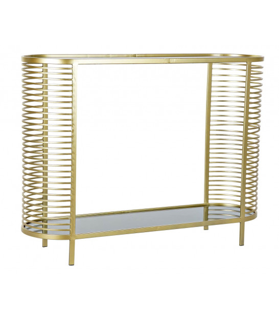 Entrance Console Golden Metal and Glass