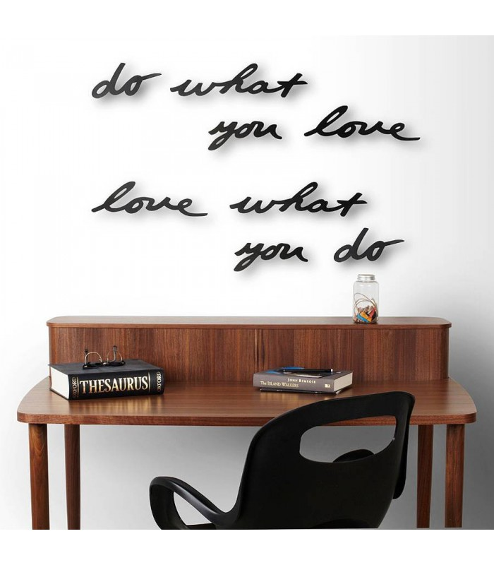 d coration murale en m tal noir love what you do 39 mantra 39 umbra. Black Bedroom Furniture Sets. Home Design Ideas