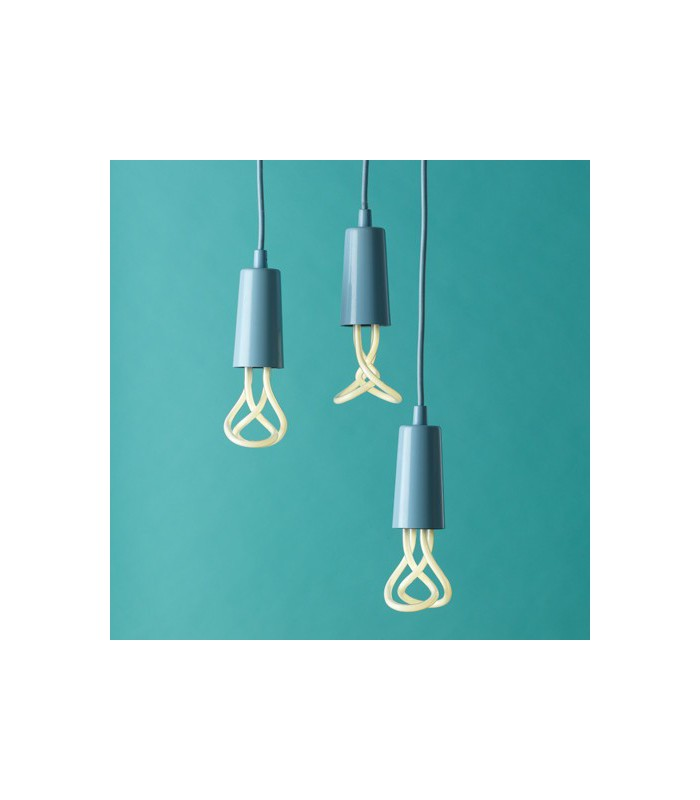 Design suspension cable and sky blue socket cover for Suspension ampoule design