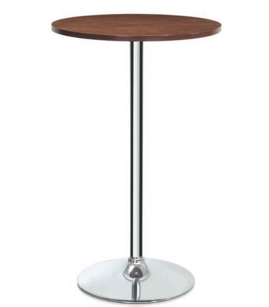 Table Haute de Bar Design Bois et Chrome - Andrea House