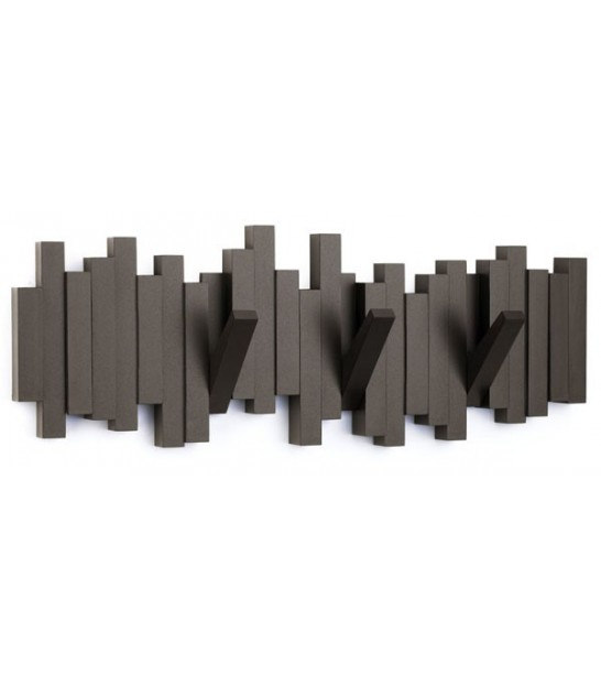 "Porte Manteaux Mural Design Espresso ""Sticks Multi Hook Espresso"" - Umbra"