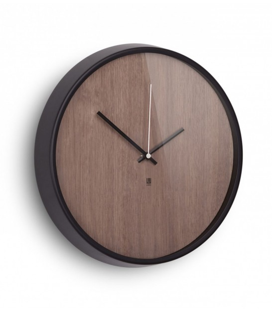Wall design wood clock madera Umbra