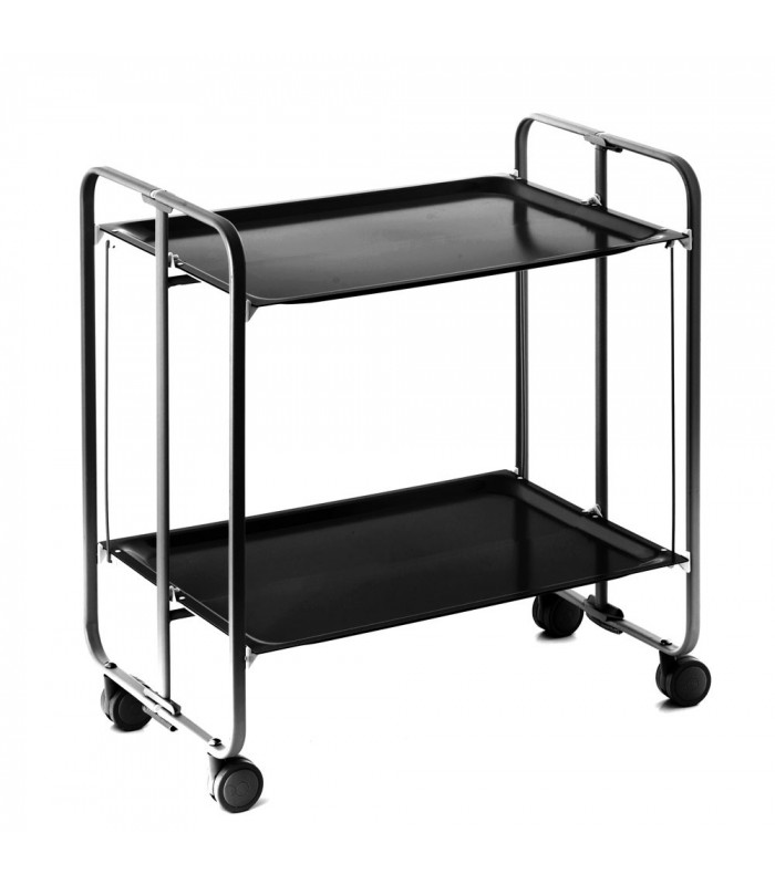 rolling and folding black table and black frame - 3 positions
