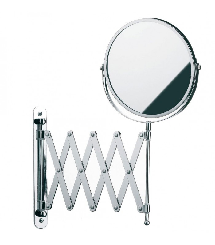Miroir mural grossissant x5 double face sur bras for Miroir long mural
