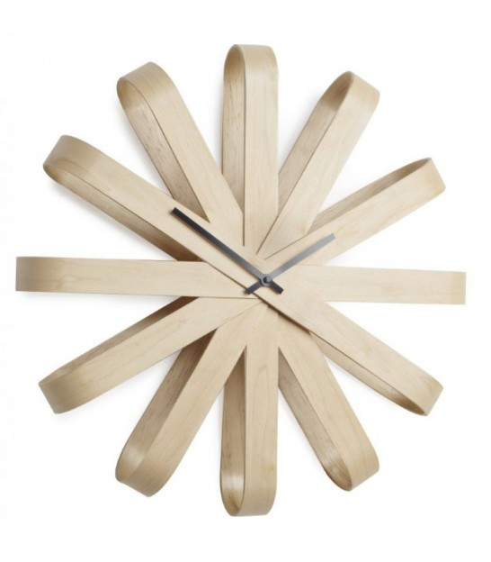 Wood design clock Ribbonwood - Umbra