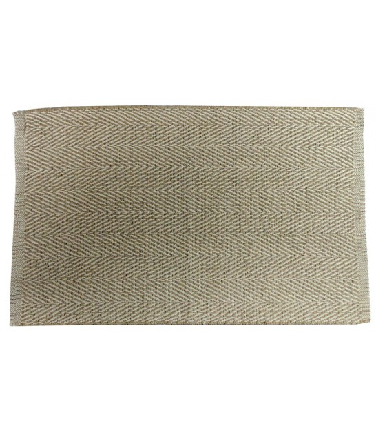 Jutte and Cotton Bath Mat Natural Beige