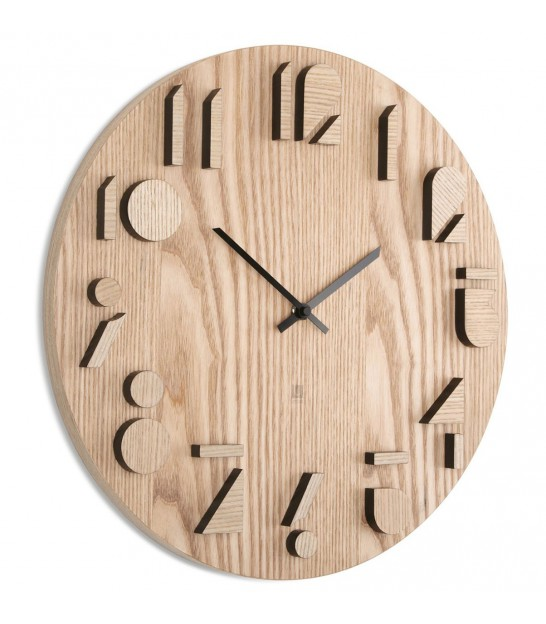 Horloge Design Murale en Bois Shadows - Umbra