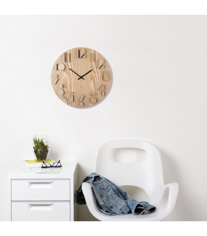 Horloge design murale en bois shadows umbra