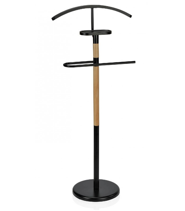 Valet Stand in Black Wood - Wadiga.com