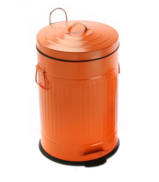 Retro push 35l kitchen bin in stainless steel for Cuisine retro