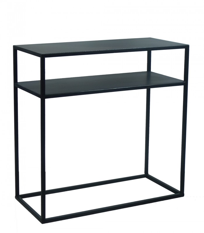 Design Black Metal Console Table Zen Length 60cm