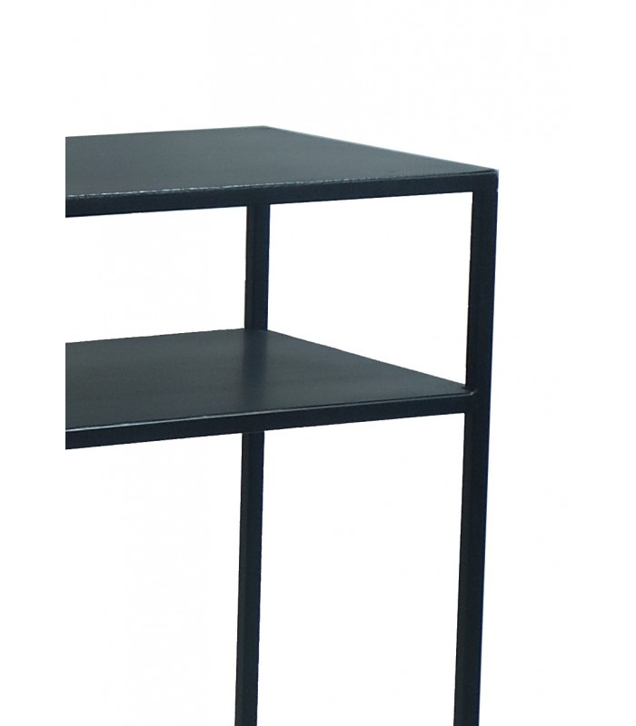 Design Black Metal Console Table Zen - Length 60cm - Wadiga.com