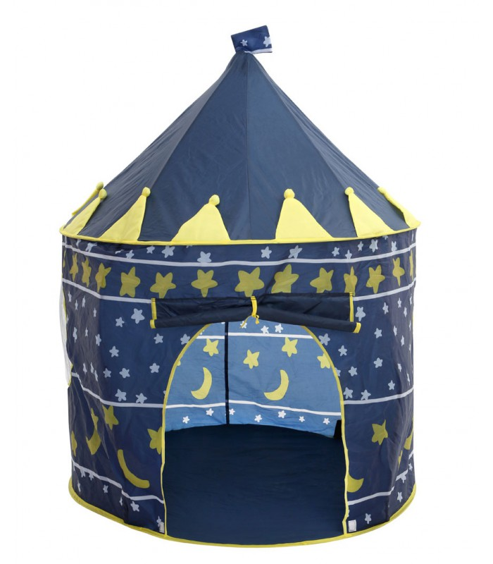 play tent for children made of blue tissue. Black Bedroom Furniture Sets. Home Design Ideas