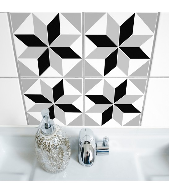 Stickers muraux for Stickers carrelage salle de bain