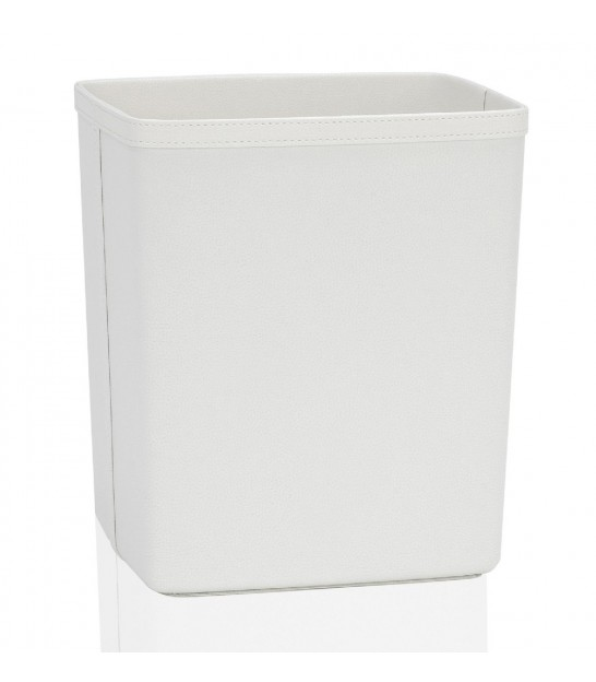 Office Wastebasket in Brown Leatherette