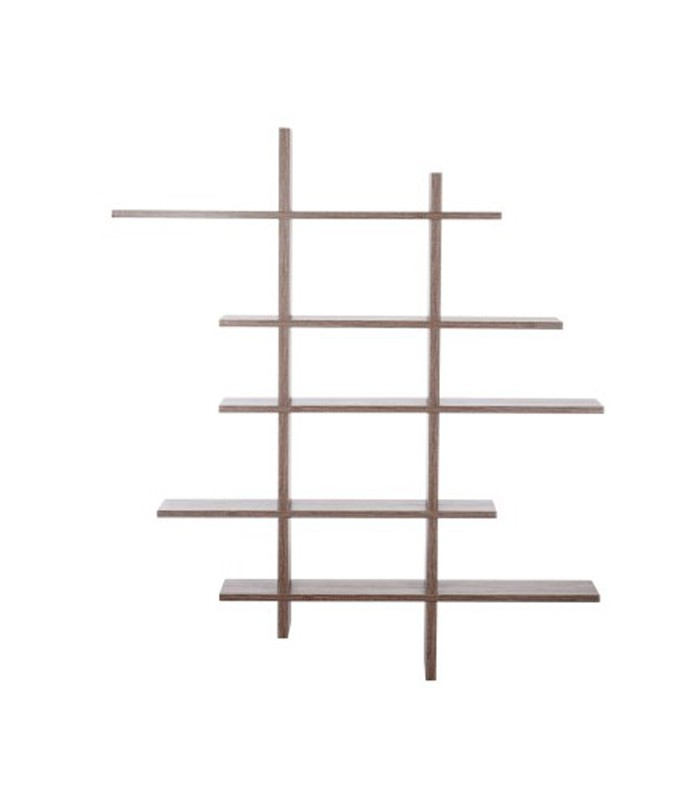 Tag re murale design en bois zig zag 5 tages Etagere murale design