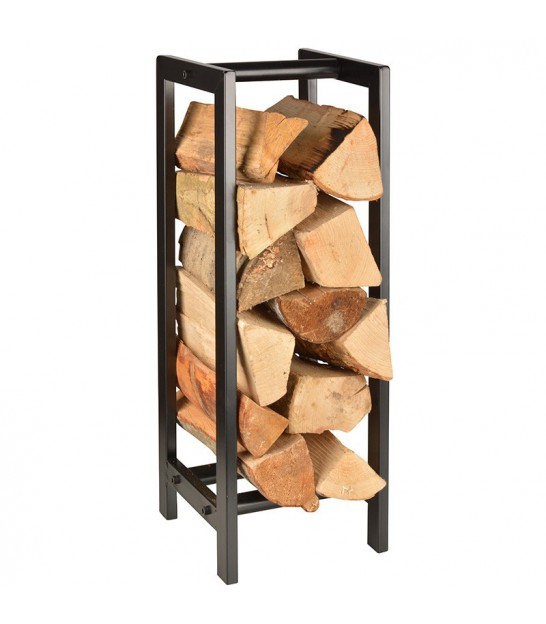 Design black carbon steel log holder for house
