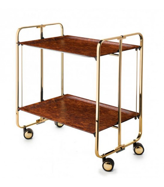 Magazine holder for wall metal gold for Table pliante
