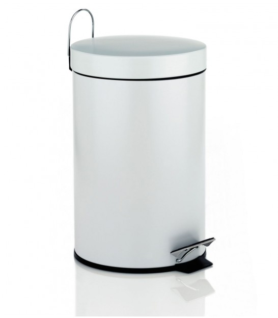 Bathroom Dustbin With Black Pedal Mat - 3L