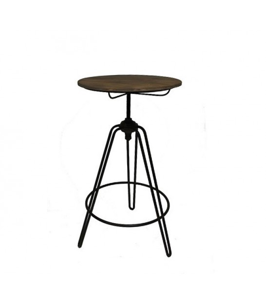 Adjustable Factory Bar Table made of Wood and Metal
