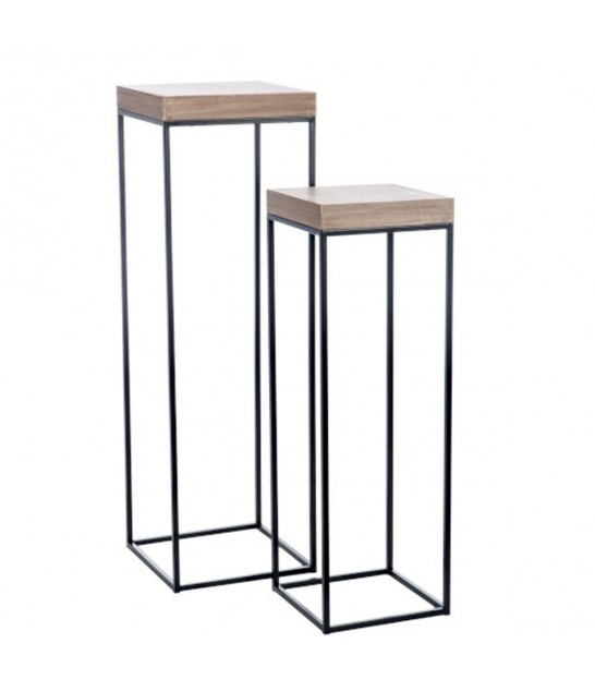 design black metal console table zen length 60cm. Black Bedroom Furniture Sets. Home Design Ideas