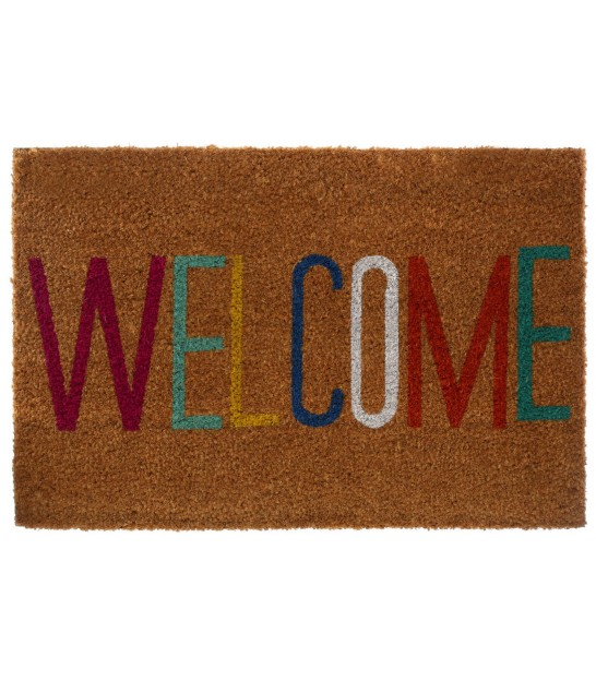 Paillasson en Coco Welcome Multicolore