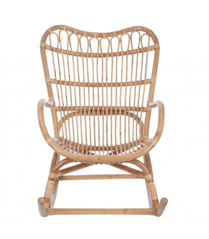 Fauteuil bascule rocking chair en rotin naturel for Le jardin qui bascule streaming