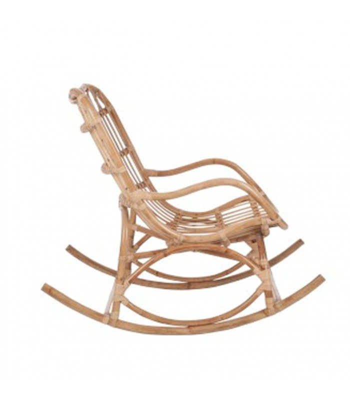 fauteuil bascule rocking chair en rotin naturel. Black Bedroom Furniture Sets. Home Design Ideas