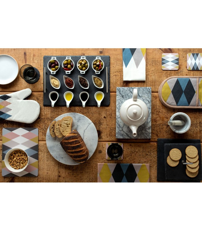 Set de table design en li ge stratifi multicolore - Set de table definition ...