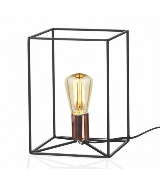 Black Metal Structure Table Lamp