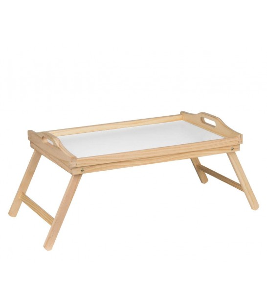 Bed Folding tray Pinewood