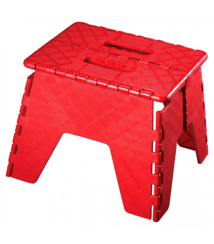 Escabeau Marchepied Pliable En Plastique Rouge Wadiga Com