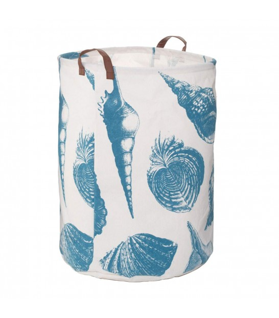 Sea Shell Blue Laundry Bag