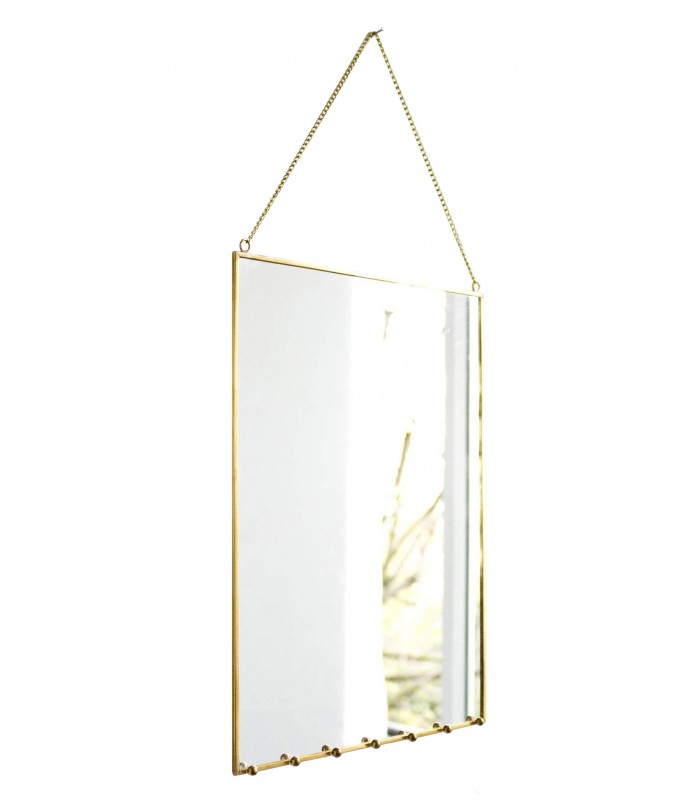 brass wall mirror jewellery holder. Black Bedroom Furniture Sets. Home Design Ideas