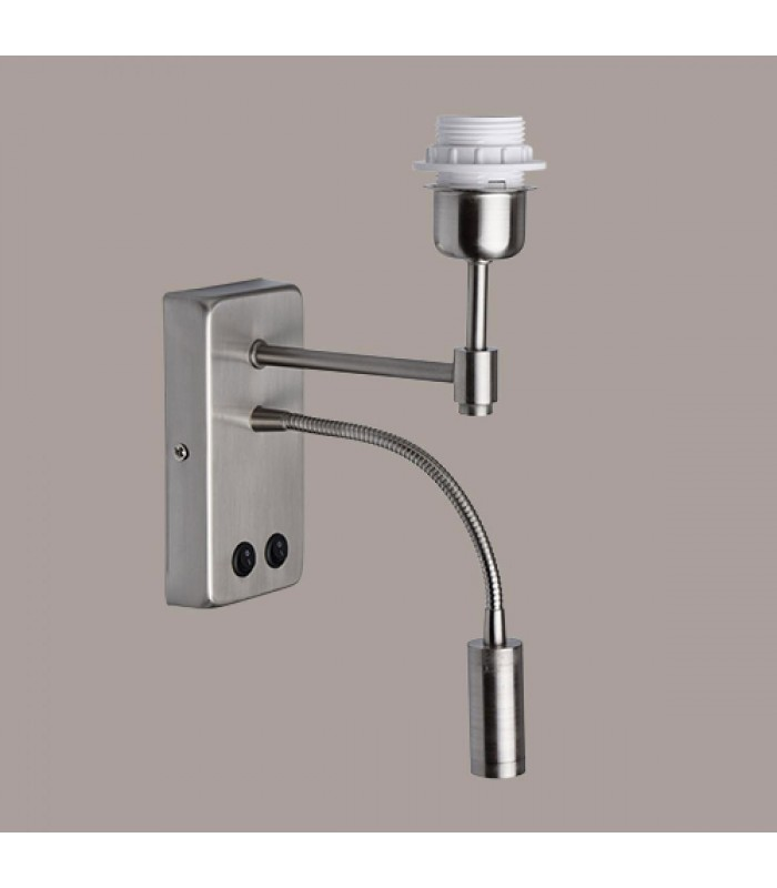 Applique murale en inox bross avec liseuse flexible led for Applique murale wc