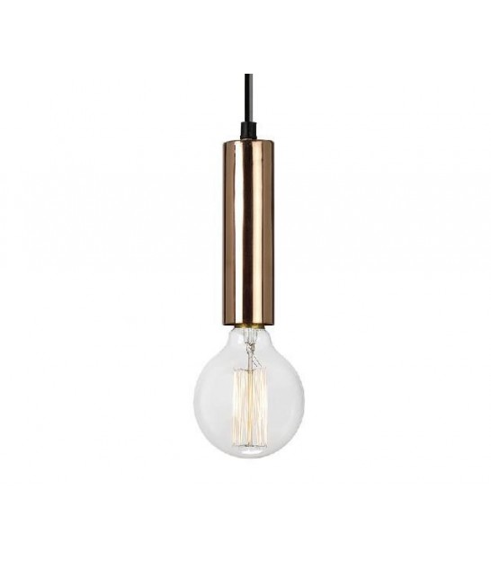 Lampe Suspension Vintage Cuivre Tube