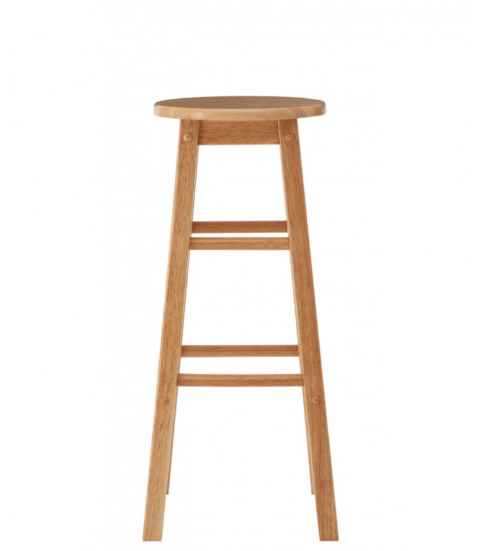 Marvelous Natural Hevea Wood Tall Bar Stool Wadiga Com Ibusinesslaw Wood Chair Design Ideas Ibusinesslaworg