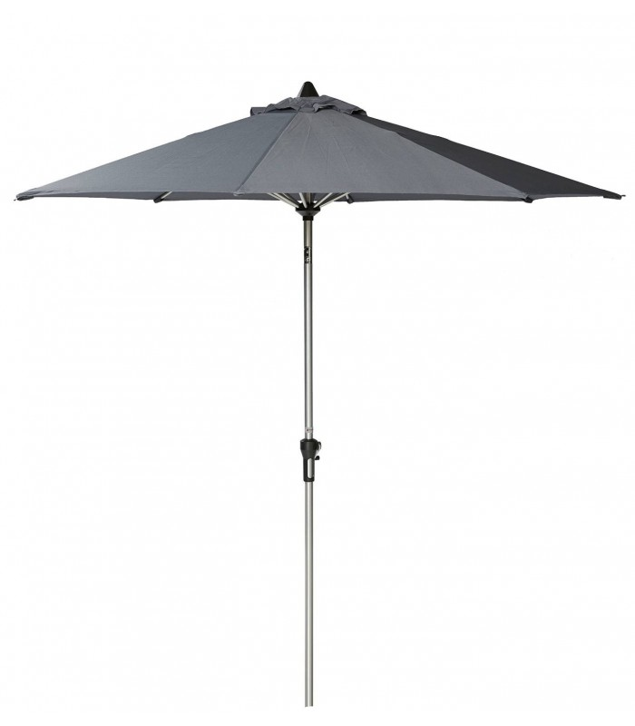grey umbrella with crank and tilt functions aluminium. Black Bedroom Furniture Sets. Home Design Ideas
