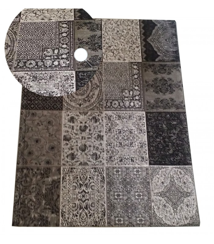 tapis rond jute noir. Black Bedroom Furniture Sets. Home Design Ideas