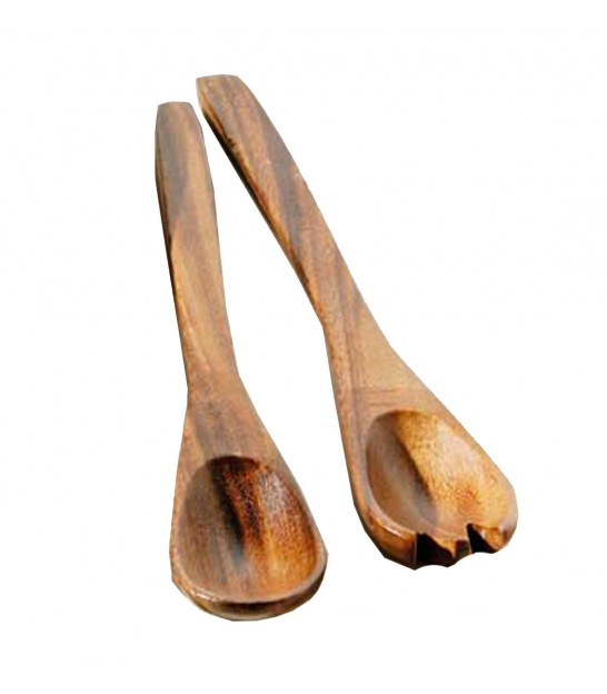 Acacia Salad Spoon and Fork Set