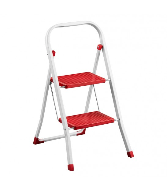 White Foldable Step Stool Height 40cm