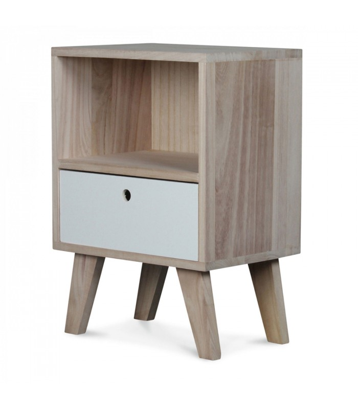 Table de chevet design en bois haut 50cm for Table de chevet bebe