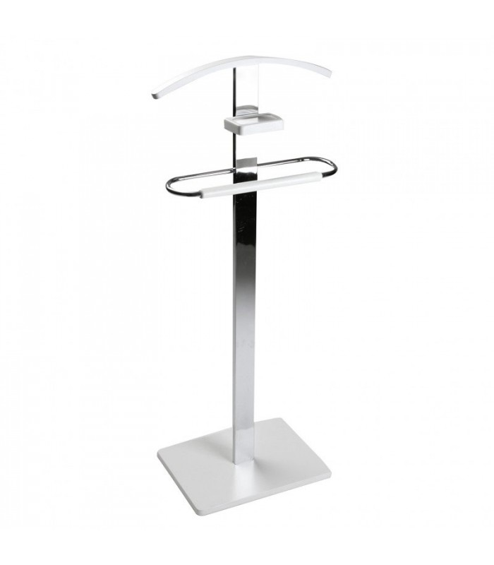 Merveilleux Valet Stand Chrome And White. Valet De Chambre ...
