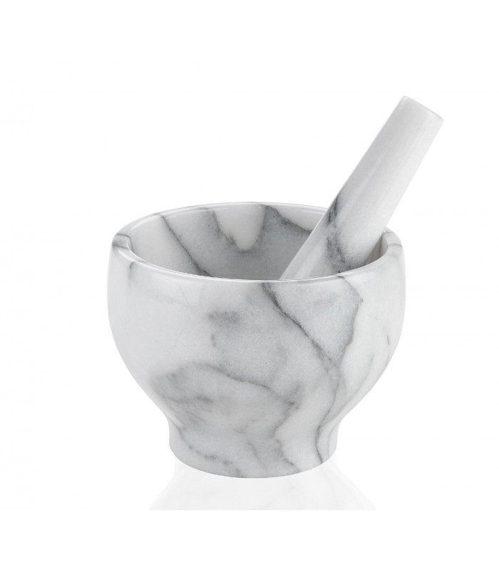mortar and pestle white marble. Black Bedroom Furniture Sets. Home Design Ideas