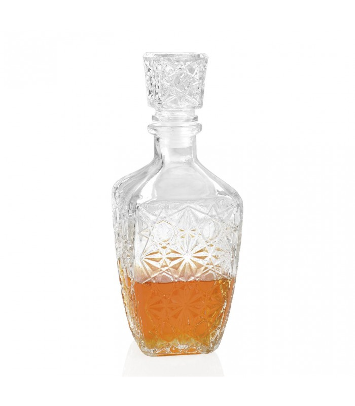 vintage glass whisky decanter. Black Bedroom Furniture Sets. Home Design Ideas