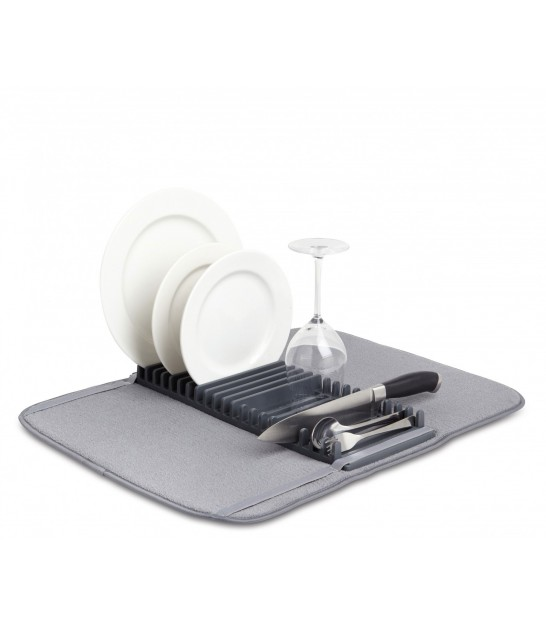 Grey Foldable Dish Rack Udry