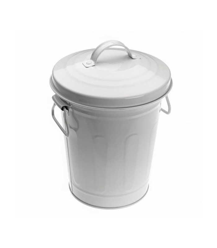 White Bathroom Bin white metal bathroom bin - 3l - wadiga
