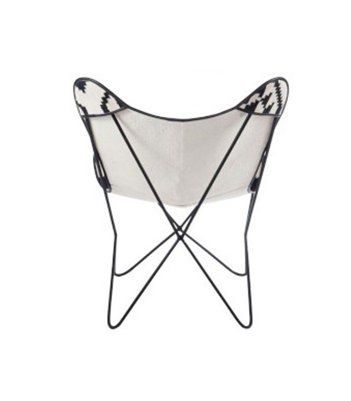 Black and White Design Lounge Armchair
