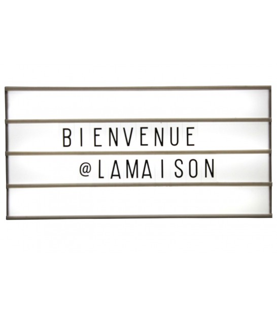 Tableau Lumineux Lettres Led