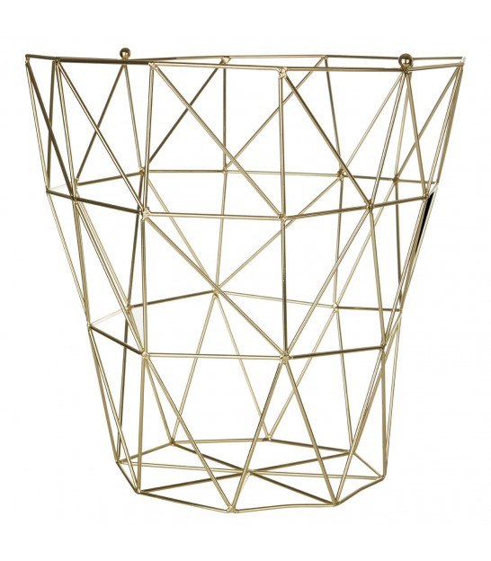 Storage Basket Gold Finish